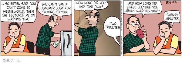 Comic Strip Greg Evans  Luann 2011-08-06 Toni