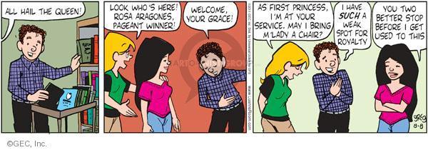 Cartoonist Greg Evans  Luann 2011-08-08 first lady