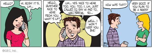 Comic Strip Greg Evans  Luann 2011-08-15 hearing