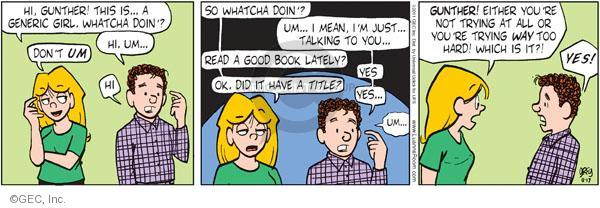 Comic Strip Greg Evans  Luann 2011-08-17 reading book