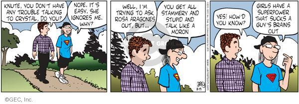 Comic Strip Greg Evans  Luann 2011-08-19 brain
