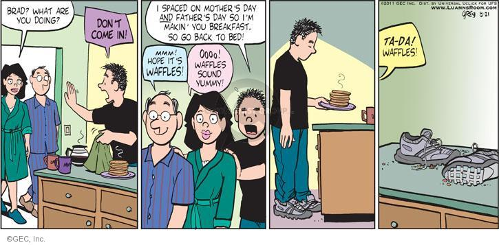 Comic Strip Greg Evans  Luann 2011-08-21 father's day
