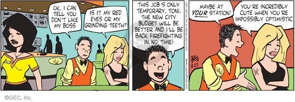 Comic Strip Greg Evans  Luann 2011-08-27 red