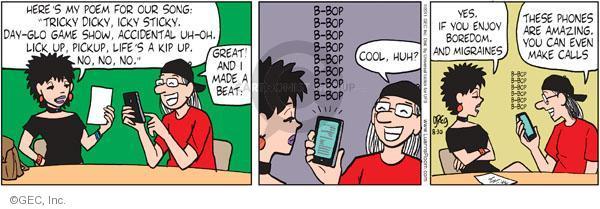 Cartoonist Greg Evans  Luann 2011-08-30 phone call