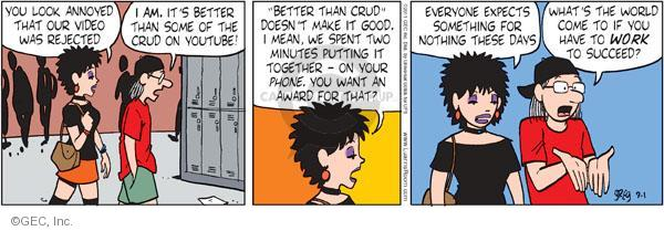 Cartoonist Greg Evans  Luann 2011-09-01 expecting