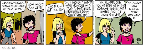 Comic Strip Greg Evans  Luann 2011-09-07 3-D