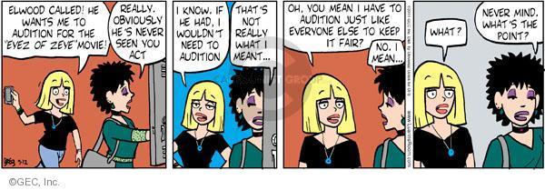 Comic Strip Greg Evans  Luann 2011-09-12 conceited