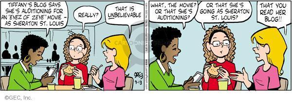 Comic Strip Greg Evans  Luann 2011-09-13 Sheraton