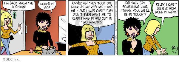 Comic Strip Greg Evans  Luann 2011-09-15 amazement