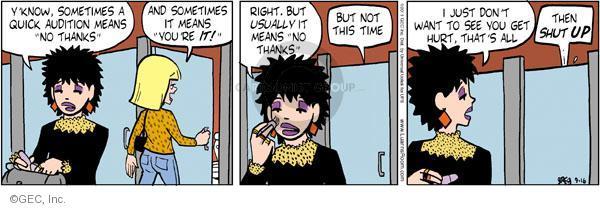 Comic Strip Greg Evans  Luann 2011-09-16 usually