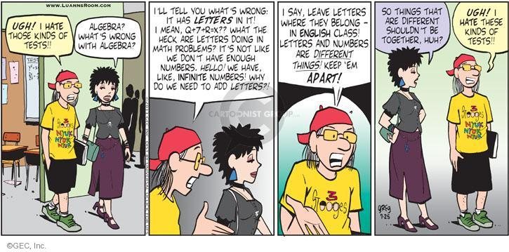 Comic Strip Greg Evans  Luann 2011-09-25 math