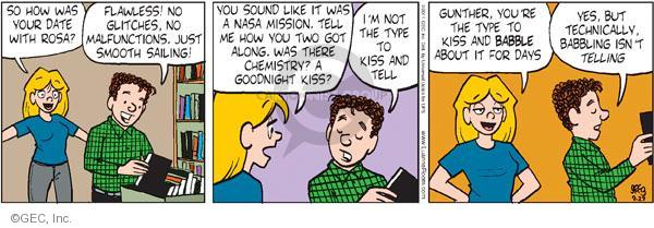 Comic Strip Greg Evans  Luann 2011-09-27 chemistry