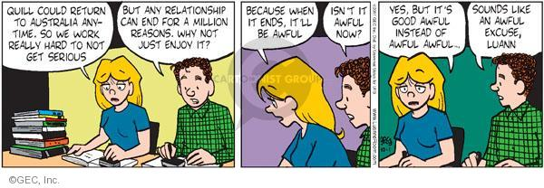 Comic Strip Greg Evans  Luann 2011-10-01 instead