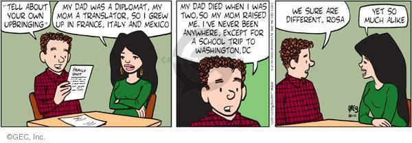 Comic Strip Greg Evans  Luann 2011-10-11 upbringing