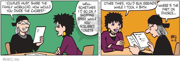 Comic Strip Greg Evans  Luann 2011-10-12 chore