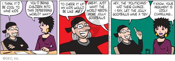 Comic Strip Greg Evans  Luann 2011-10-14 argument