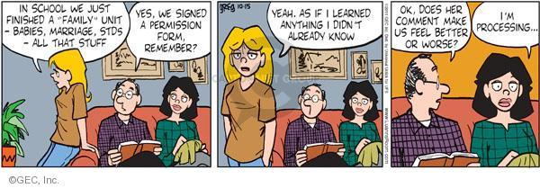 Comic Strip Greg Evans  Luann 2011-10-15 disease