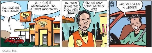 Comic Strip Greg Evans  Luann 2011-10-17 customer service