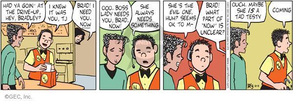 Comic Strip Greg Evans  Luann 2011-10-18 demand