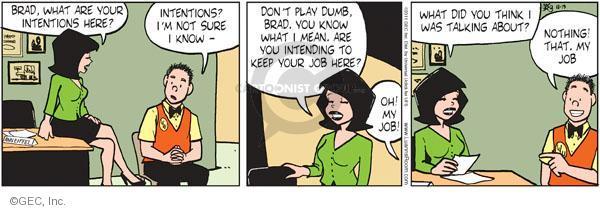 Cartoonist Greg Evans  Luann 2011-10-19 behavior