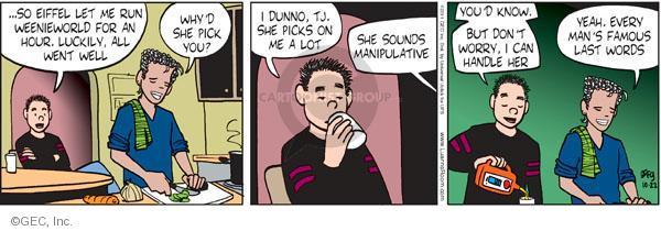 Cartoonist Greg Evans  Luann 2011-10-22 behavior