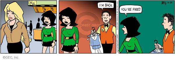 Comic Strip Greg Evans  Luann 2011-10-29 errand