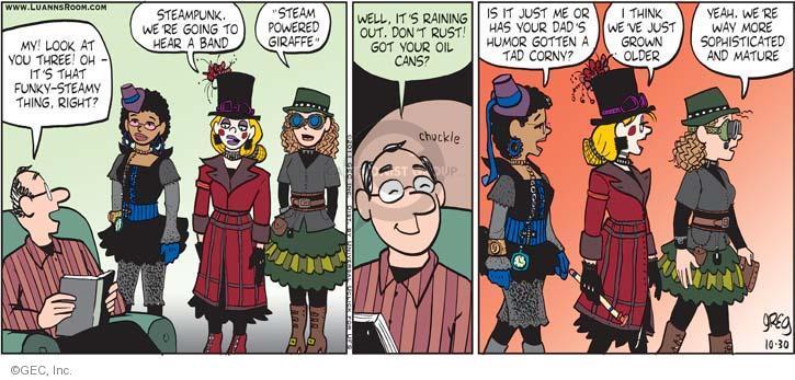 Comic Strip Greg Evans  Luann 2011-10-30 get old