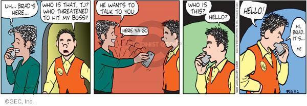 Cartoonist Greg Evans  Luann 2011-11-02 telephone