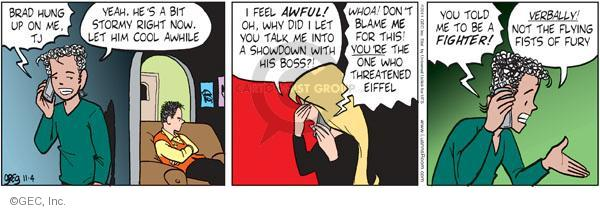 Comic Strip Greg Evans  Luann 2011-11-04 threat