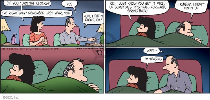 Comic Strip Greg Evans  Luann 2011-11-06 gain
