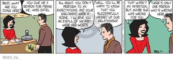 Cartoonist Greg Evans  Luann 2011-11-07 behavior