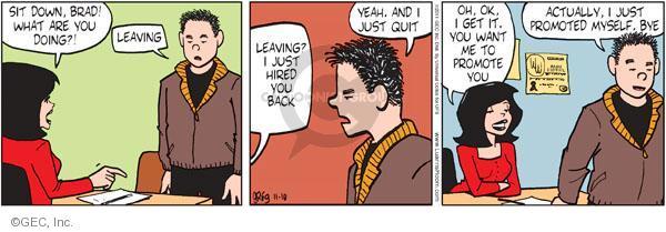 Comic Strip Greg Evans  Luann 2011-11-10 employment