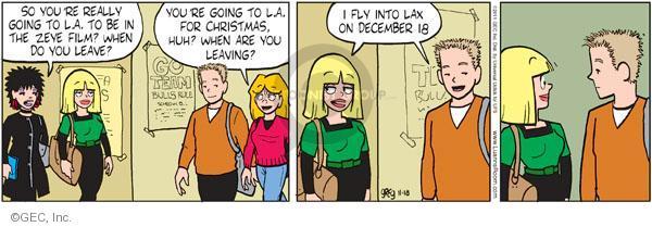 Comic Strip Greg Evans  Luann 2011-11-18 December