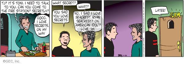Comic Strip Greg Evans  Luann 2011-11-21 Toni