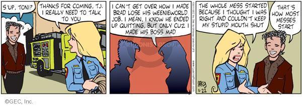 Comic Strip Greg Evans  Luann 2011-11-22 Toni