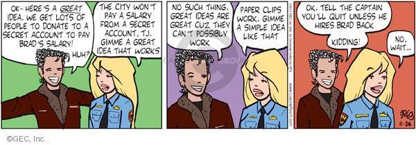 Comic Strip Greg Evans  Luann 2011-11-24 threat