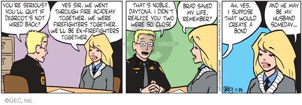 Comic Strip Greg Evans  Luann 2011-11-26 hire