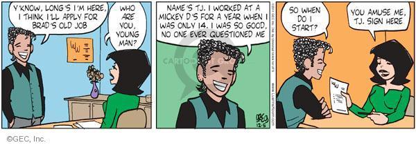 Comic Strip Greg Evans  Luann 2011-12-05 employment