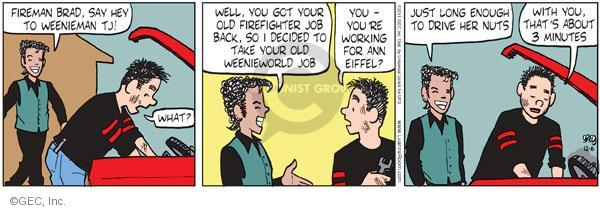 Comic Strip Greg Evans  Luann 2011-12-06 Brad