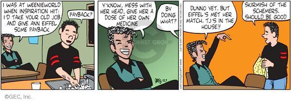 Cartoonist Greg Evans  Luann 2011-12-07 inspiration