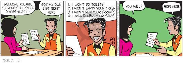 Comic Strip Greg Evans  Luann 2011-12-08 negotiation