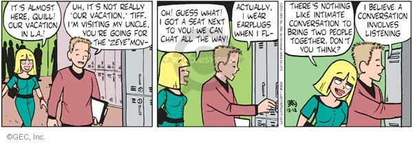 Comic Strip Greg Evans  Luann 2011-12-12 vacation travel