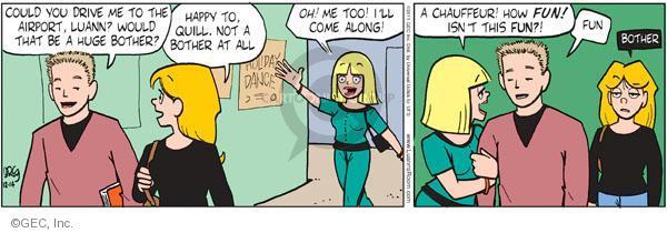 Comic Strip Greg Evans  Luann 2011-12-14 traveler