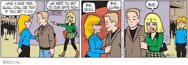 Comic Strip Greg Evans  Luann 2011-12-17 traveler