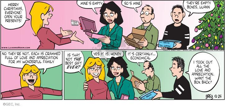 Comic Strip Greg Evans  Luann 2011-12-25 Merry
