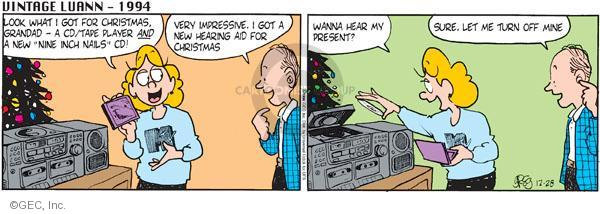 Comic Strip Greg Evans  Luann 2011-12-28 gift