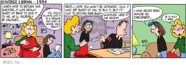 Comic Strip Greg Evans  Luann 2011-12-31 Brad