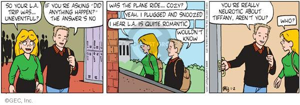 Comic Strip Greg Evans  Luann 2012-01-02 traveler