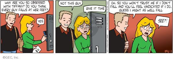 Comic Strip Greg Evans  Luann 2012-01-03 fall guy