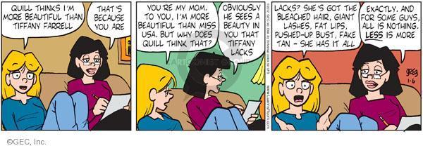 Comic Strip Greg Evans  Luann 2012-01-06 perception